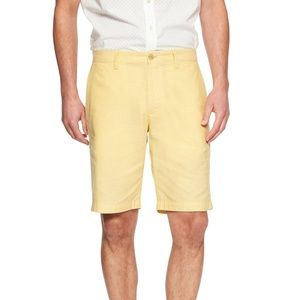 Banana Republic Aiden Slim Fit Linen Blend Shorts
